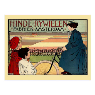 Anuncio holandés de la bicicleta del vintage del é tarjeta postal