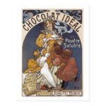 Anuncio ideal del vintage de Chocolat Postal