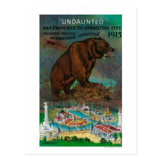 Anuncio internacional pacífico de la expo de tarjeta postal