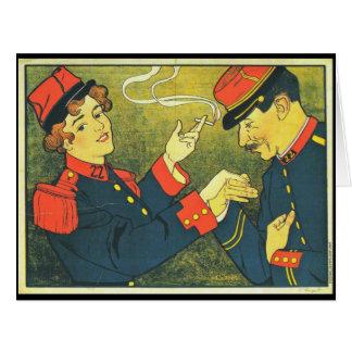 Anuncio italiano 1899 del cigarrillo tarjeta de felicitación grande