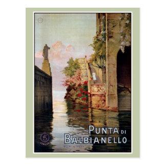 Anuncio italiano 1920 del viaje de Como Lenno del Tarjetas Postales