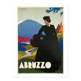Anuncio italiano 1930 del viaje de Abruzos del Tarjetas Postales
