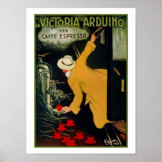 Anuncio italiano de la máquina del café de los año impresiones