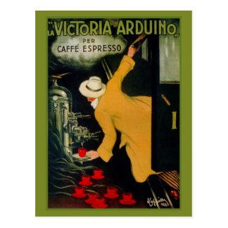 Anuncio italiano de la máquina del café de los año tarjetas postales