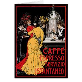 Anuncio italiano del café express del café del vin felicitacion