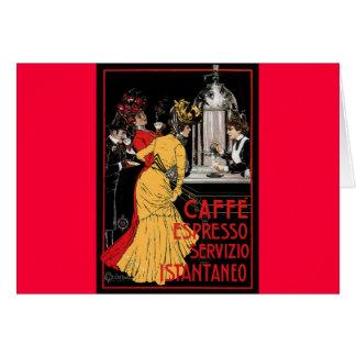 Anuncio italiano del café express del café del vin felicitaciones