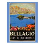 Anuncio italiano del viaje de Bellagio de los años Tarjetas Postales