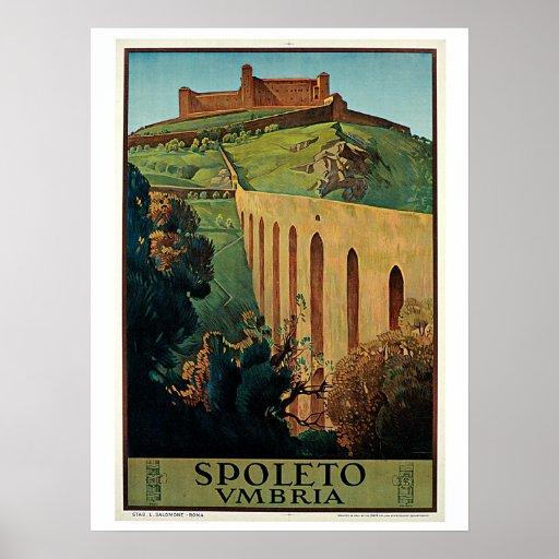 Anuncio italiano del viaje de los años 20 de póster