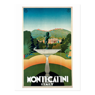 Anuncio italiano del viaje de Montecatini del Postales