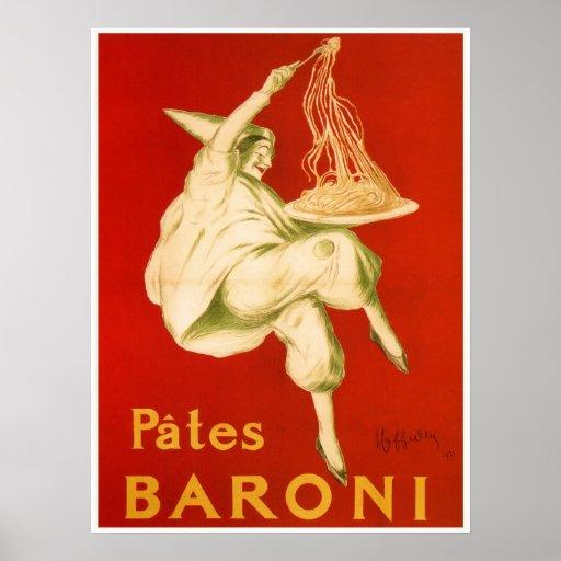Anuncio italiano famoso de las pastas de Leonetto  Poster