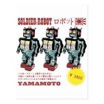 Anuncio japonés retro del robot del juguete tarjetas postales