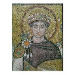 ANUNCIO justiniano del emperador I c.547 Tarjetas Postales