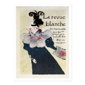 Anuncio literario francés de la revista del vintag postal