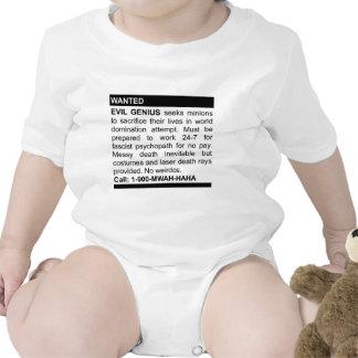 Anuncio malvado del genio trajes de bebé