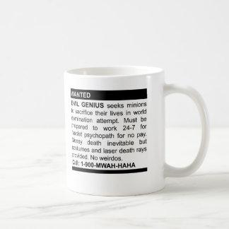 Anuncio malvado del genio taza clásica