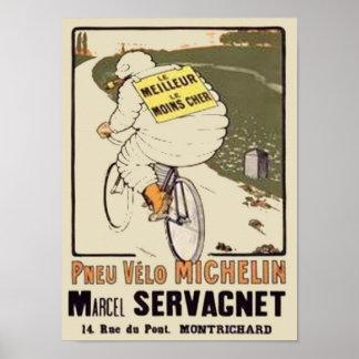 Anuncio Marce de Vintage Michelin le Meilleur le M Póster