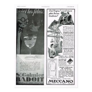 Anuncio, Meccano Tarjeta Postal