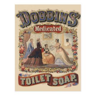 Anuncio medicado del jabón del retrete de los caba tarjeta postal