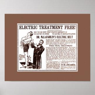 Anuncio médico del vintage: Electric Belt del Dr.  Póster