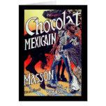 Anuncio mexicano del vintage del chocolate de tarjeta de felicitación