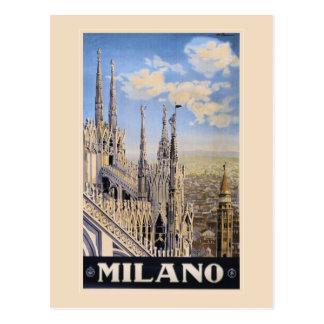 Anuncio Milano Italia del viaje de Litho del Postal