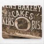 Anuncio Mousepad de la panadería del vintage Tapetes De Ratón
