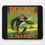 Anuncio Mousepad del alistamiento de WWI Alfombrillas De Ratones
