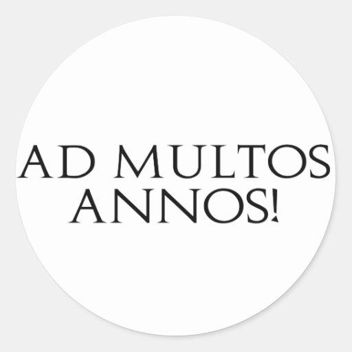 ¡Anuncio Multos Annos! Pegatina Redonda