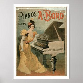 """Anuncio para """"A. Bord Pianos, París"""" (color Póster"""