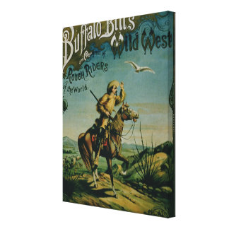 Anuncio para el 'oeste salvaje y Co de Buffalo Bil Lienzo Envuelto Para Galerías