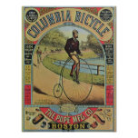 Anuncio para la bicicleta de Columbia Poster