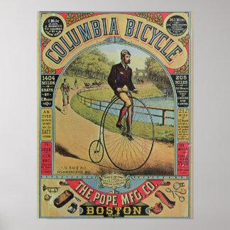 Anuncio para la bicicleta de Columbia Póster