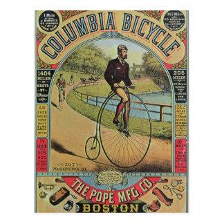 Anuncio para la bicicleta de Columbia Postal