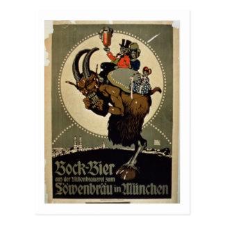 Anuncio para la 'cerveza de Bock del cervecero de Postal