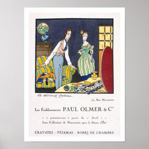 Anuncio para la colección de verano de Paul Olmer, Póster