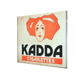 """Anuncio para los """"cigarrillos de Kadda"""" (litho del Impresiones En Lienzo Estiradas"""
