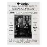 Anuncio para los misterios de Maskelyne y de Devan Tarjetas Postales