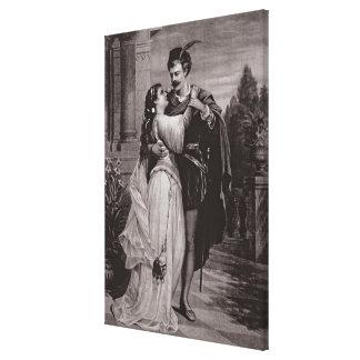 """Anuncio para """"Romeo y Juliet"""", en la ópera Impresión En Lienzo Estirada"""