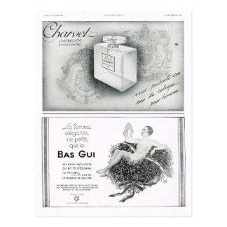 Anuncio, perfume tarjetas postales