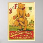 Anuncio poner crema del caramelo de Williams del v Posters