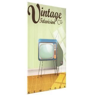 Anuncio publicitario del Co. de la televisión del Impresión En Lienzo