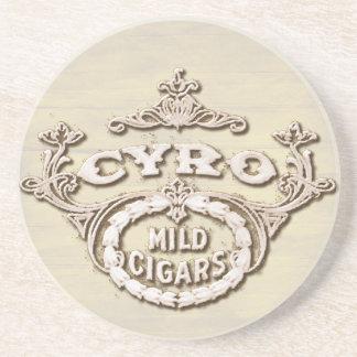 Anuncio que fuma de la etiqueta del cigarro del posavaso para bebida