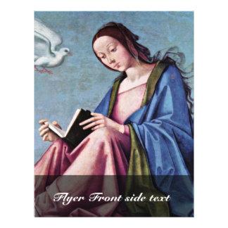 """Anuncio (que lee a Maria) por la costa de Lorenzo Folleto 8.5"""" X 11"""""""