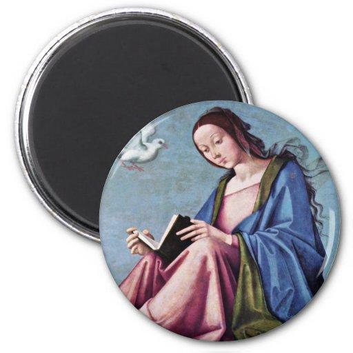 Anuncio (que lee a Maria) por la costa de Lorenzo Imán De Frigorifico