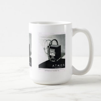 Anuncio relojes eléctricos de la atmósfera tazas de café
