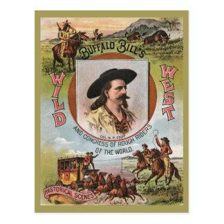 Anuncio retro 1893 del vintage del oeste salvaje postales