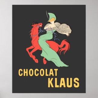 Anuncio retro Chocolat Klaus Poster
