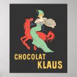 Anuncio retro Chocolat Klaus Póster
