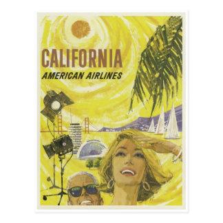 Anuncio retro de California de las líneas aéreas Postales
