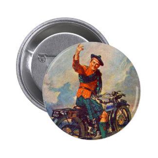 Anuncio retro de la motocicleta de Scot Douglas de Pin Redondo 5 Cm